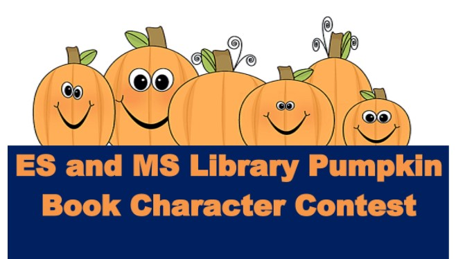 Elementary and Middle School Pumpkin Book Character Contest!